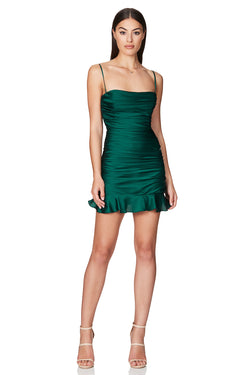 Cooper Mini Dress in Emerald by Nookie the Label