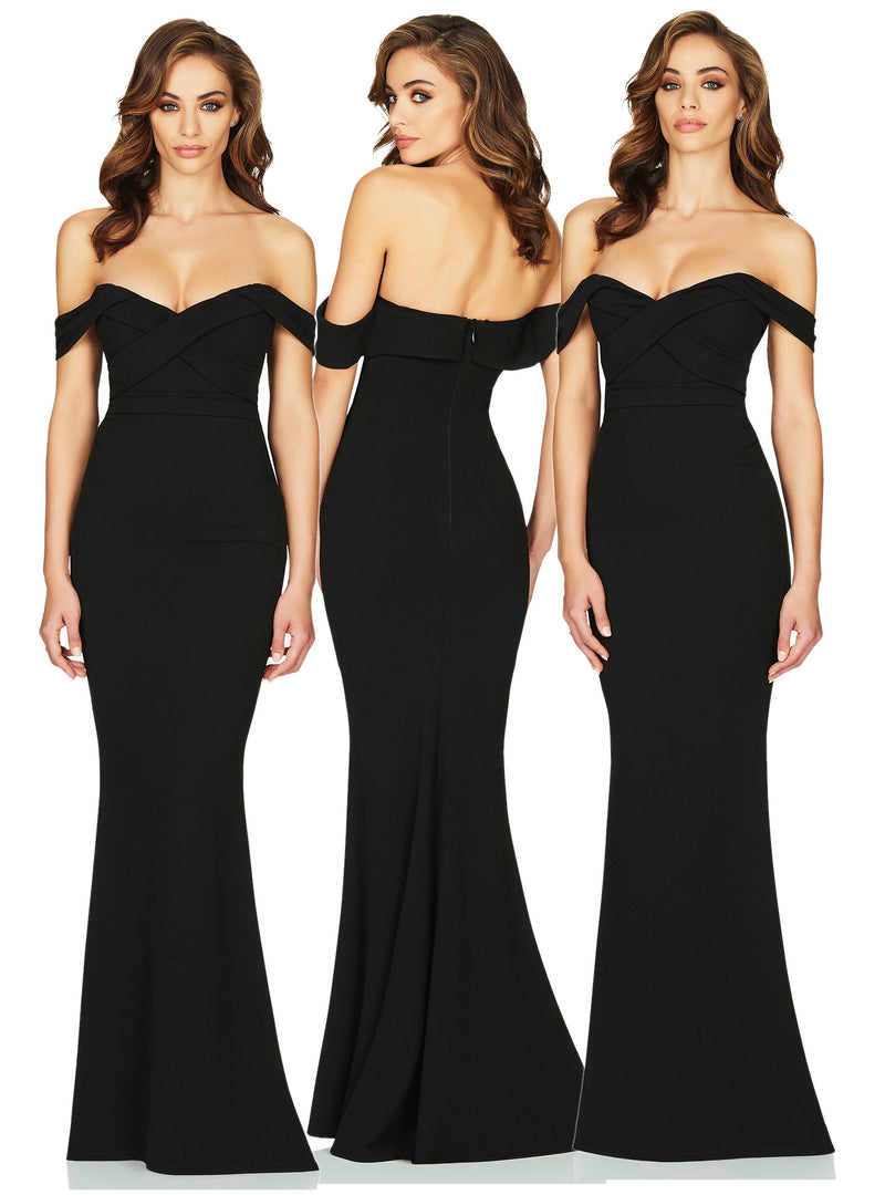 Camille Gown in Black by Nookie