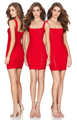 Chicago Mini Dress in Red by Nookie the Label