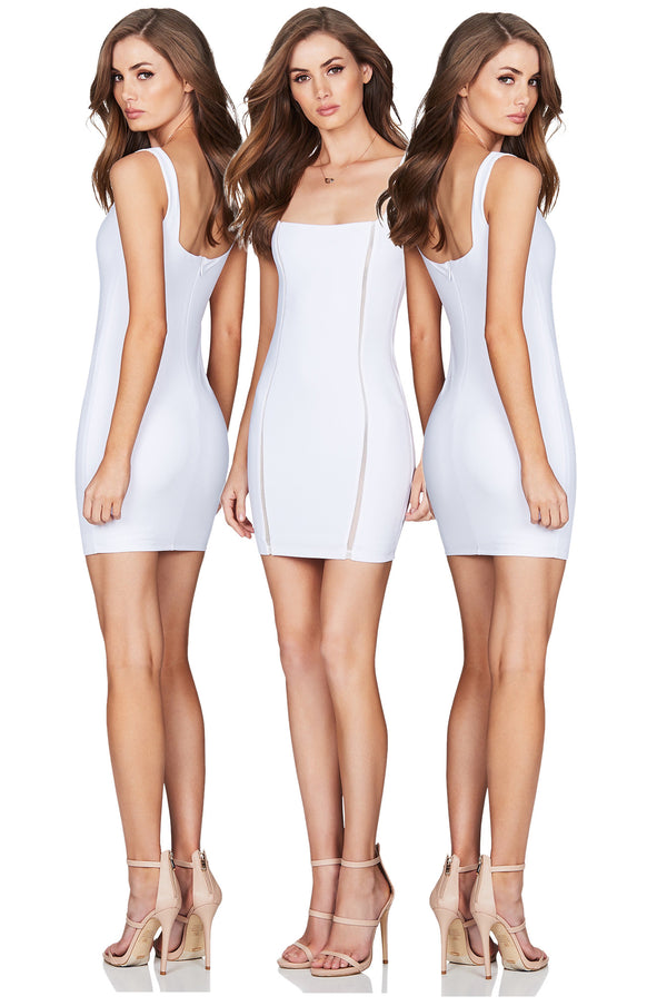Chicago Mini Dress in White by Nookie the Label