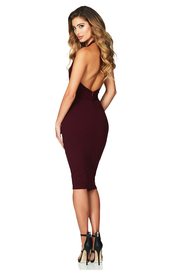 Wine Dare Midi Dress by Nookie