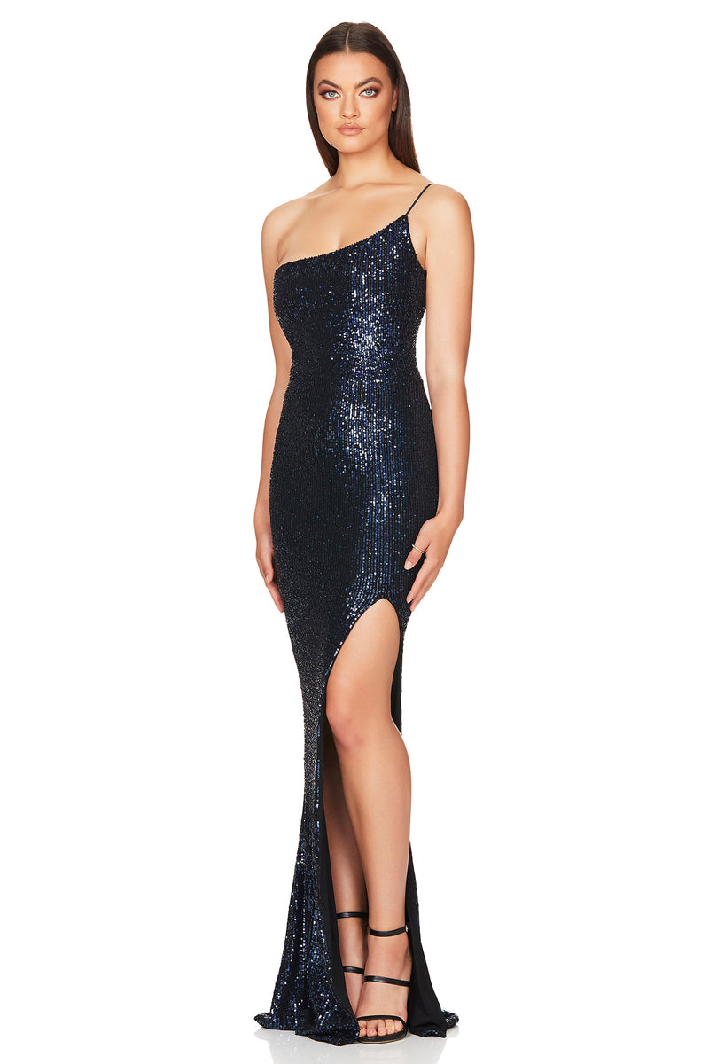 Demi One Shoulder Gown | Navy | Dress | MADE in Australia by Nookie the Label