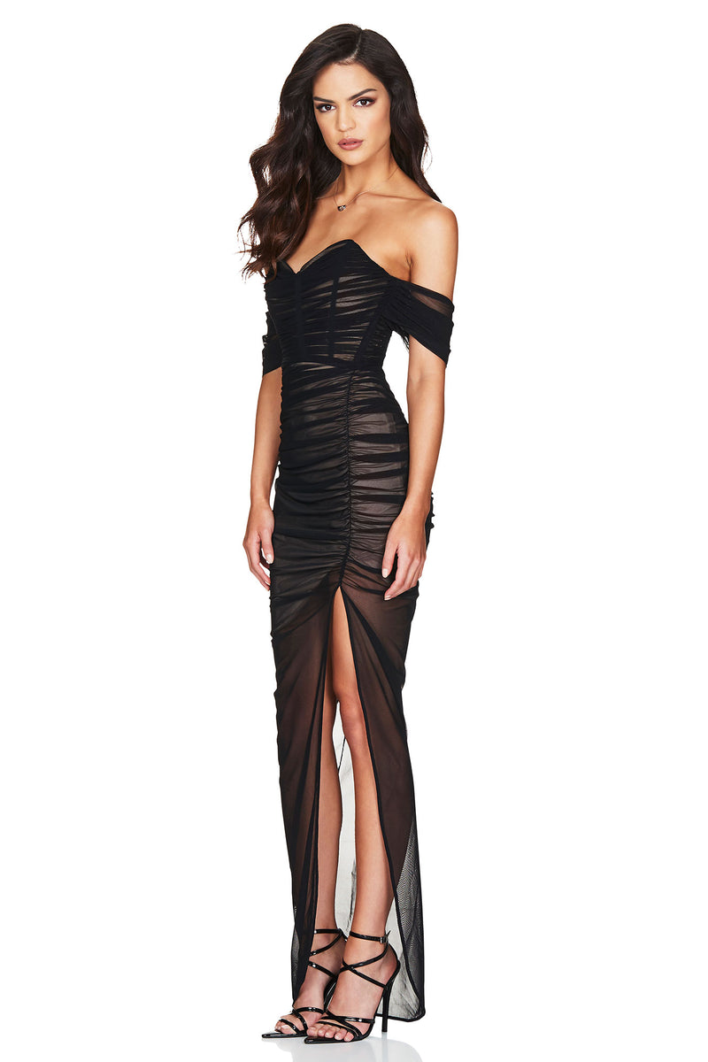 Black Dita Mesh Gown Dress | Nookie the Label 3