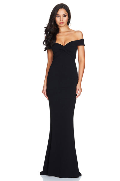Dolly Gown in Black by Nookie back veiw