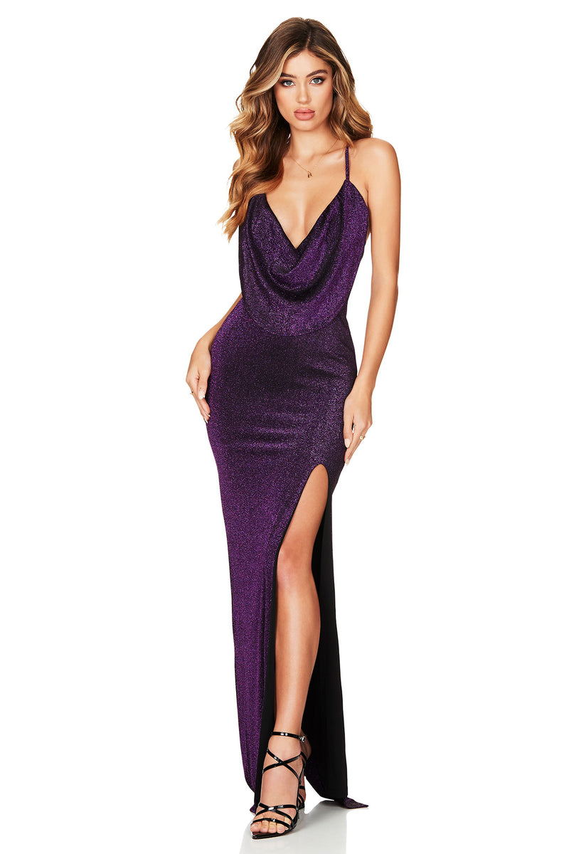 Dreamlover Gown in Electric Purple by Nookie