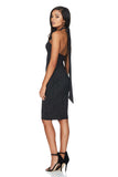 A Nookie dress, back view of the Dynasty Multiway midi dress.