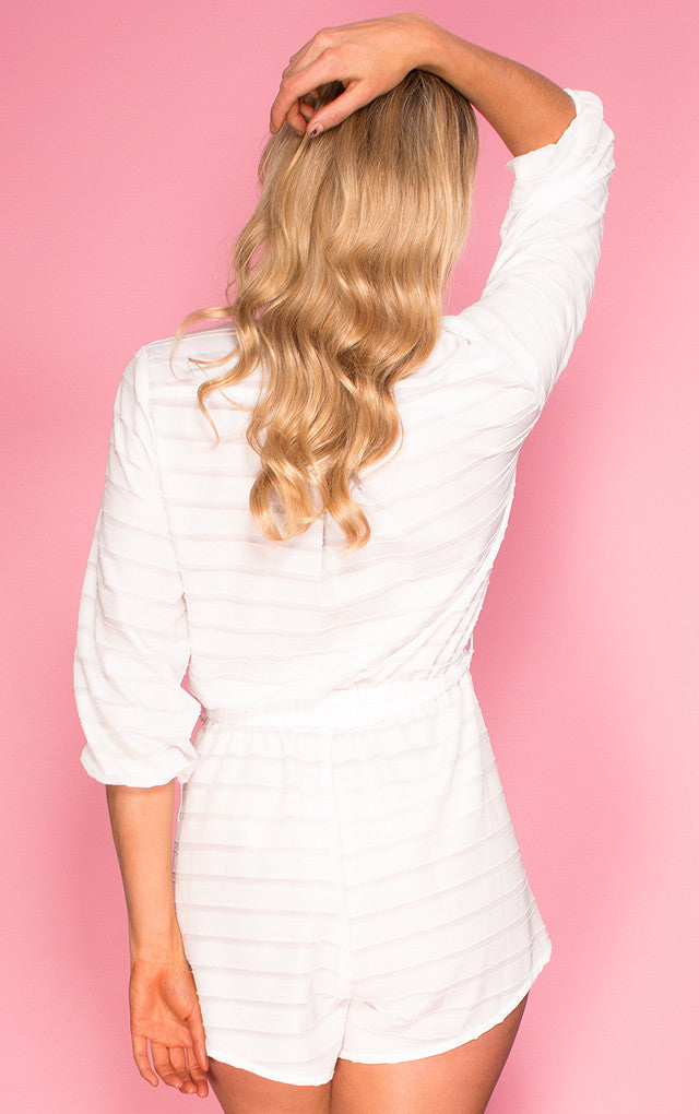 Dreamstate Playsuit in ivory, a Nookie playsuit.