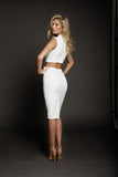 Duke n Co Dress, back view of the Audrey Dress in white.