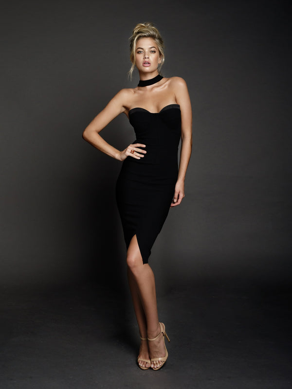 Duke n Co dress, front view of the Claire Dress in black.