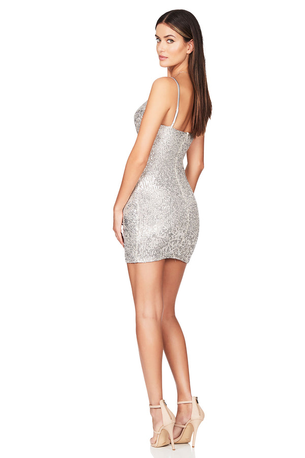 Silver Galaxy Mini Dress | Nookie the Label