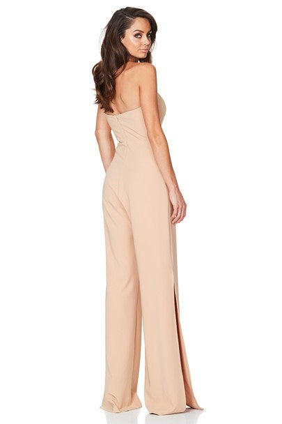 Glamour Jumpsuit in Camel by Nookie back veiw