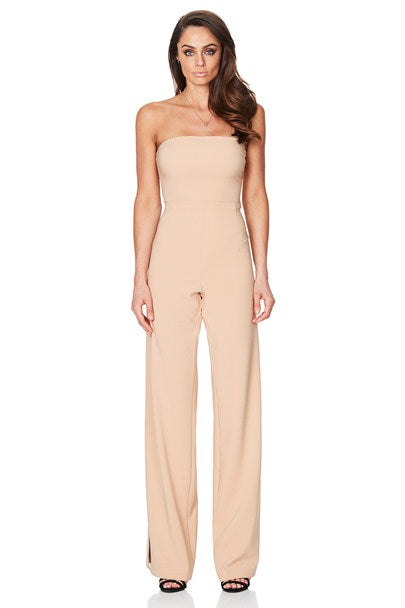 Glamour Jumpsuit in Camel by Nookie front veiw