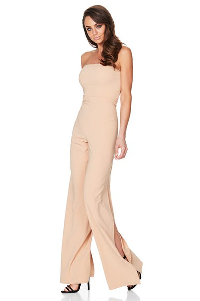 Glamour Jumpsuit in Camel by Nookie side veiw