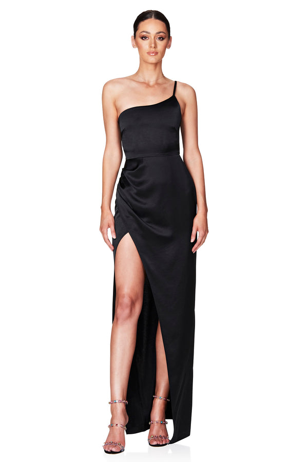 Grace One Shoulder Gown | Black | Dress | MADE in Australia by Nookie the Label
