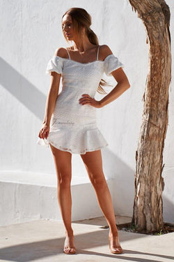 White Gabriella Mini Dress | Two Sisters the Label