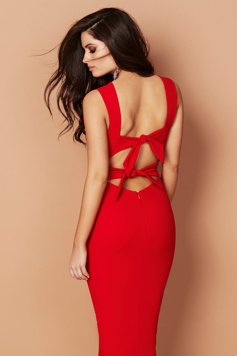 Cleo Midi Dress in Red by Nookie