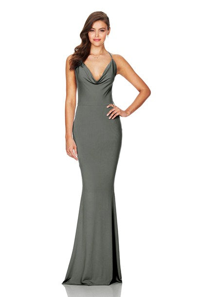 Olive Hustle Maxi Dress by Nookie front veiw