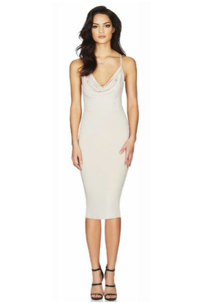 Hustle Midi Dress in Nude by Nookie