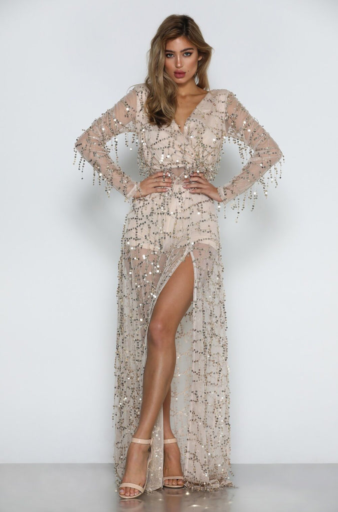 Florence Sequin Gown by MICAAH Front View