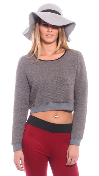 Chicago Crop in Grey by Madison Square Clothing