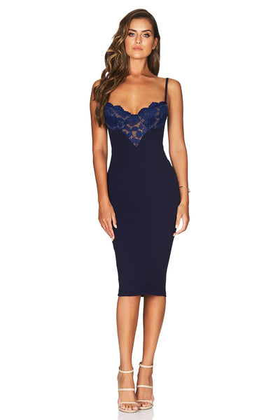 Liana Lace Midi in Navy by Nookie
