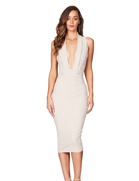 Lopez Midi Dress in Sand by Nookie