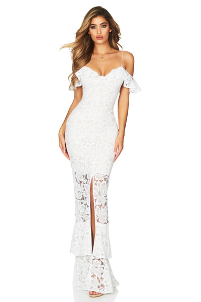 Luna Lace Gown in White by Nookie