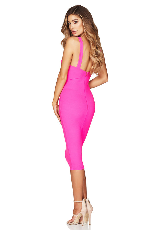 Neon Pink Lust Midi Dress | by Nookie