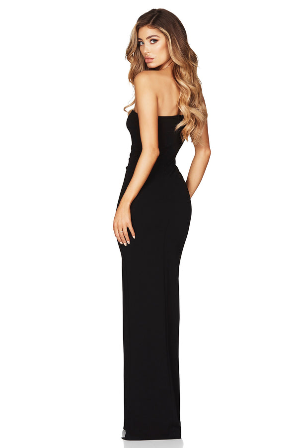 Lust One Shoulder Gown in Black by Nookie