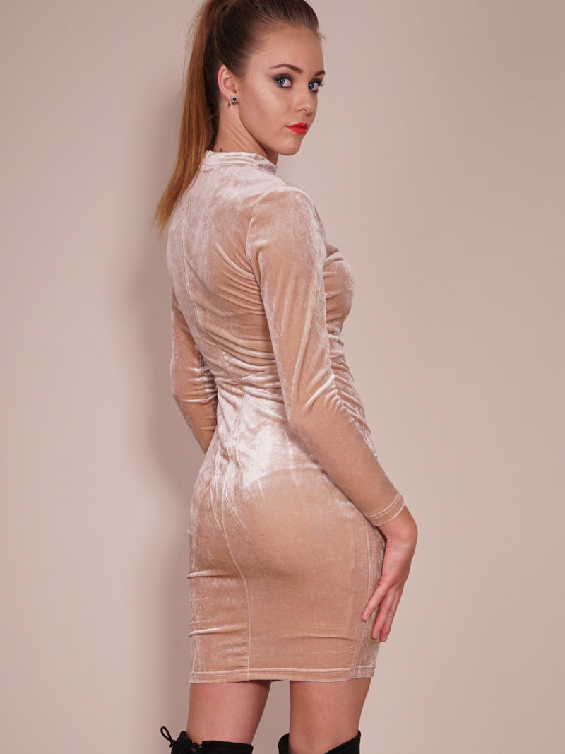 Late Nights Dress in Champagne Back Cropl View