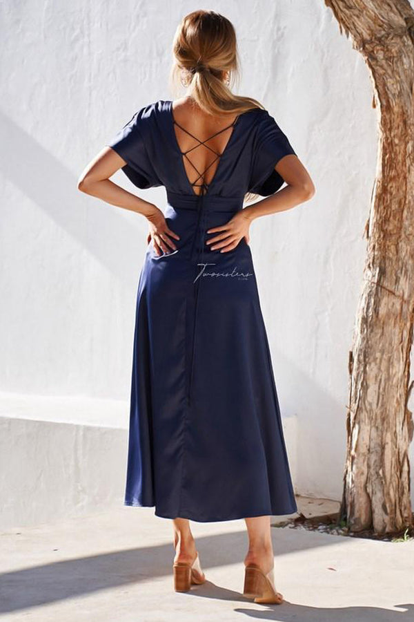 Lilian Dress in Navy by Two Sisters the Label