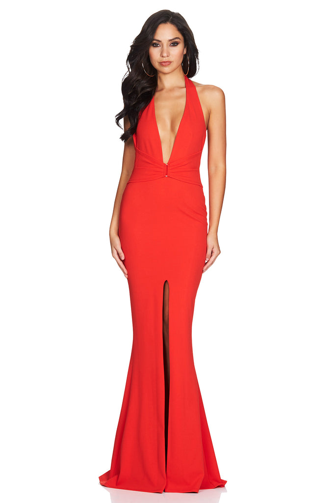 Mariah Halter Gown in Red by Nookie