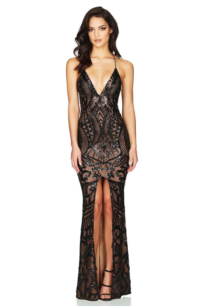 Mon Cherie Gown in Black by Nookie