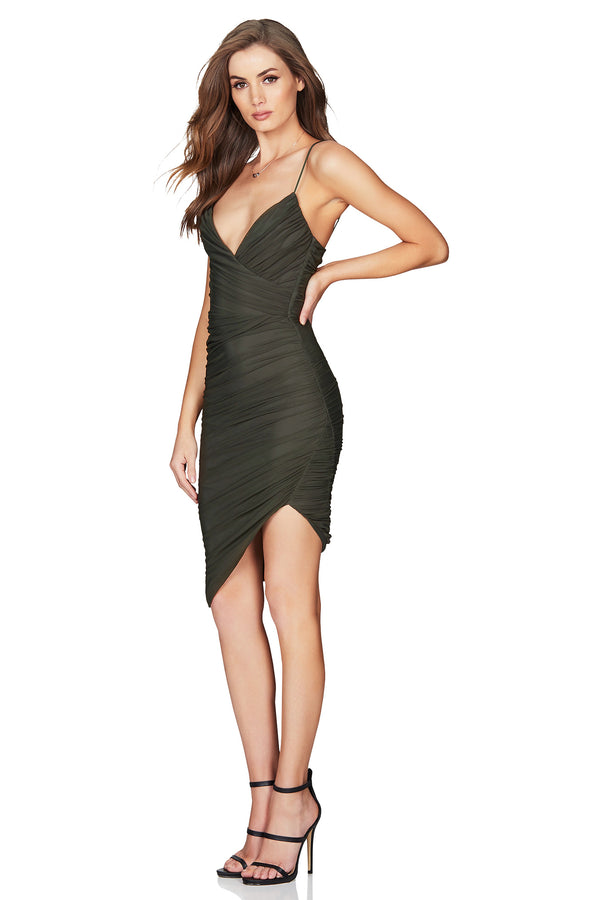 Moscow Mini Dress in Khaki by Nookie the Label