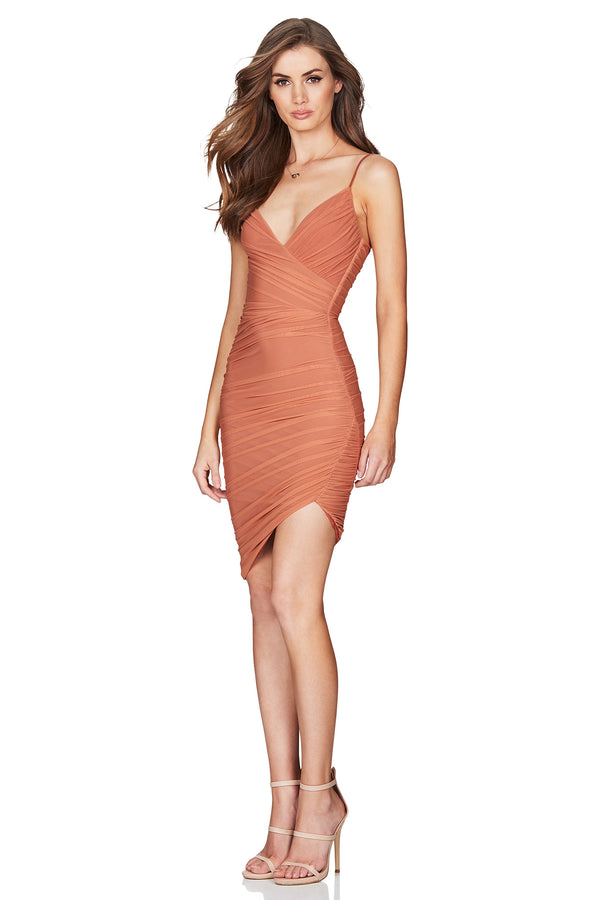Moscow Mini Dress in Tan by Nookie the Label