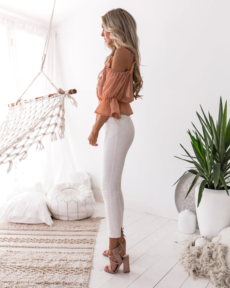 Nikita Top in Apricot by Two Sisters the Label