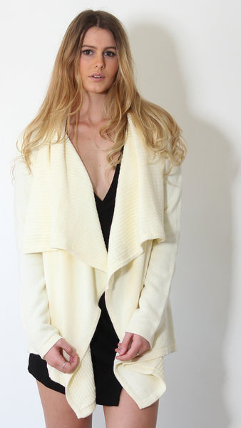 On a Whim Cardigan in Vanilla by Madison Square Clothing