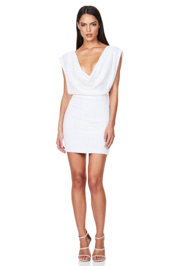 Pandora Mini Dress in White by Nookie the Australian Label