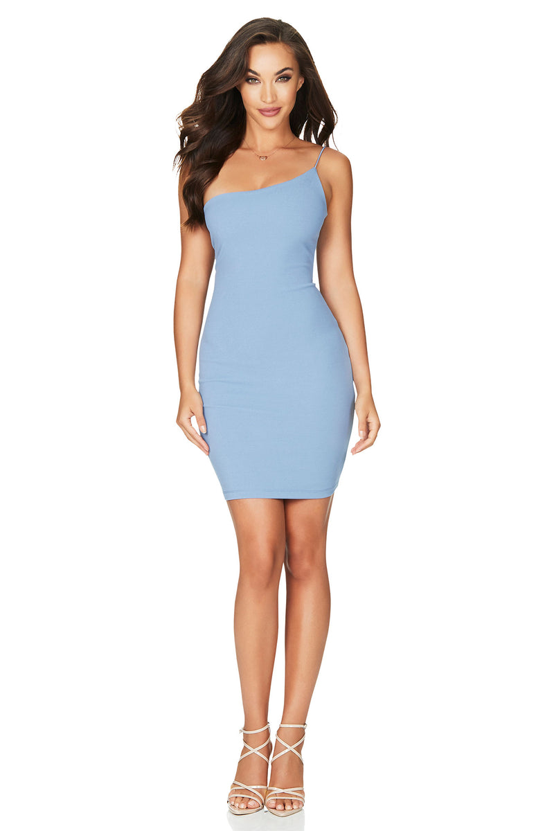 Dusty Blue Penelope Mini Dress | by Nookie the Label