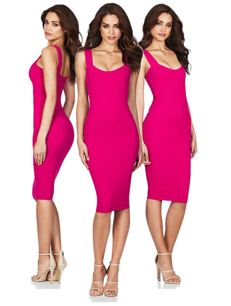 Passion Midi in Hot Pink by Nookie