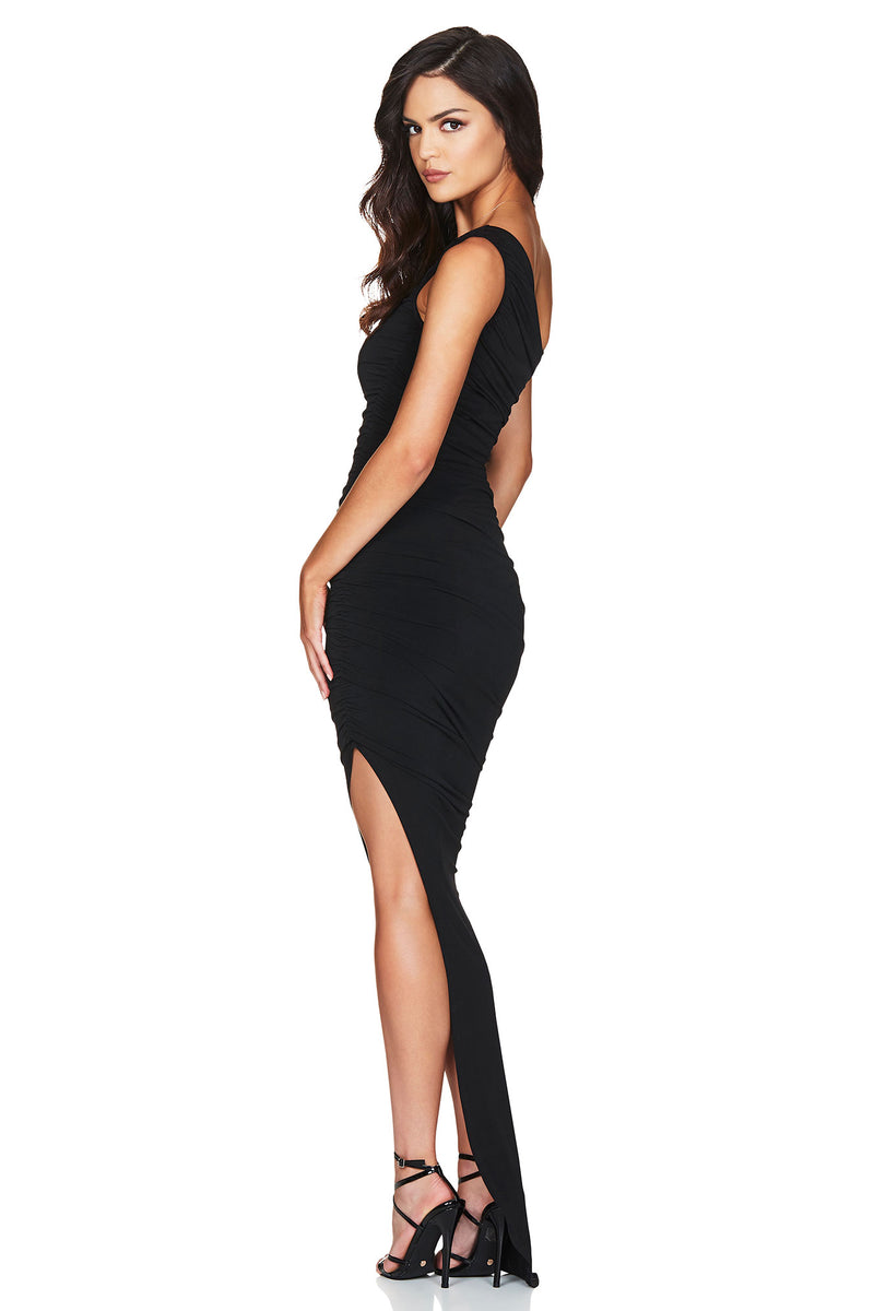 Black Rosie One Shoulder Gown | Nookie the Label