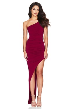 Crimson Rosie One Shoulder Gown | Nookie the Label