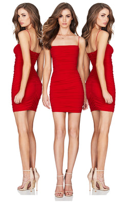 Rio Mini Dress in Red by Nookie the Label