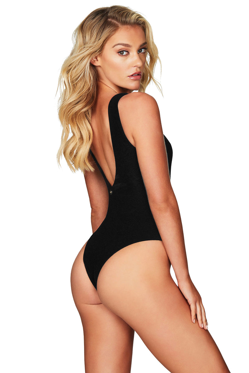 Safari One Piece in Black by Nookie