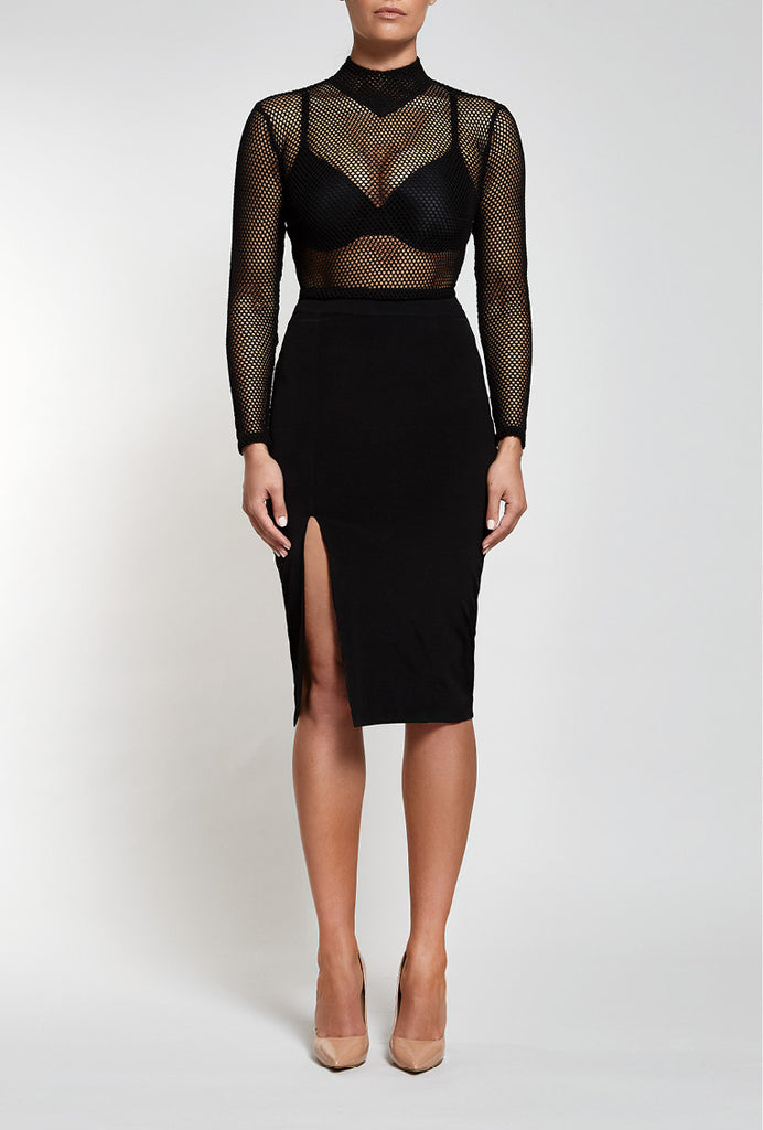 Unconditional Midi in Black by Reign Cartel