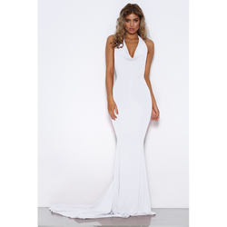 Audrey Dress in White by Shari Benjamin  front veiw