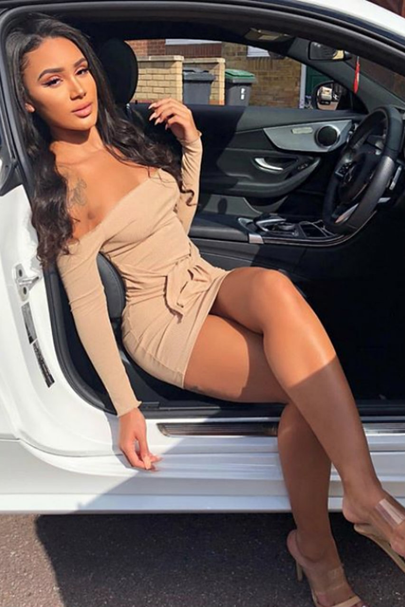 Jennifer Dress in Tan by Runaway the Label