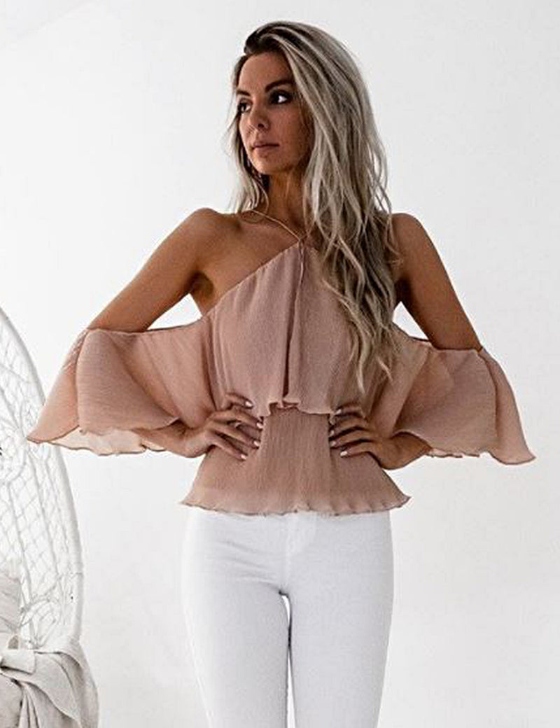 Sicily Top in Peach by Two Sisters the Label Front Crop View