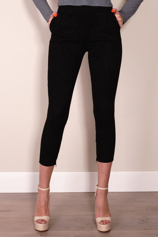 Star Ship Pants in Black by Passion Fusion Front Crop View