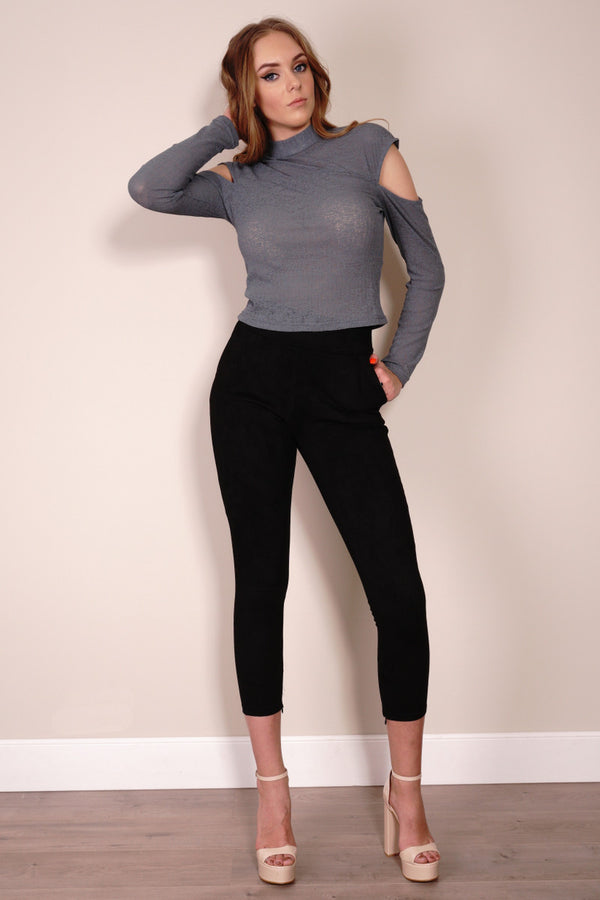 Star Ship Pants in Black by Passion Fusion Front Full View